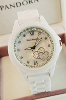 Lovely ceramic table watch ladies watch authentic female white ceramic watch
