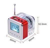 High quality NiZHi TT028 transparent mini speaker with FM radio LED Screen ,Micro SD/TF USB Disk Speaker for MP3/4 Free shipping