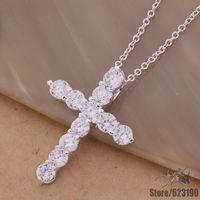 AN296 925 sterling silver Necklace 925 silver fashion jewelry pendant ablaze cross /belajvsa cqxaliea