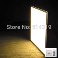 2pcs Free Ship Square LED Panel light Dimmable 600x600 mm SMD3014 60W 60x60 ceiling lights Aluminum focus led+LED Driver