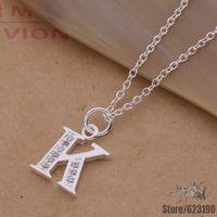 AN217 925 sterling silver Necklace 925 silver fashion jewelry pendant letter K /bbkajsra cnwalfda