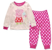 Peppa Pig Pajama Set 1PCS Pijama Kids Baby Cartoon Animal pajamas Boys Girls Pajamas Autumn 2014