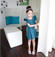 Brand new high quality 2014 New Summer children clothing,baby girls korean ruffles dress,kids princss costume,birthday,2-8Ychild