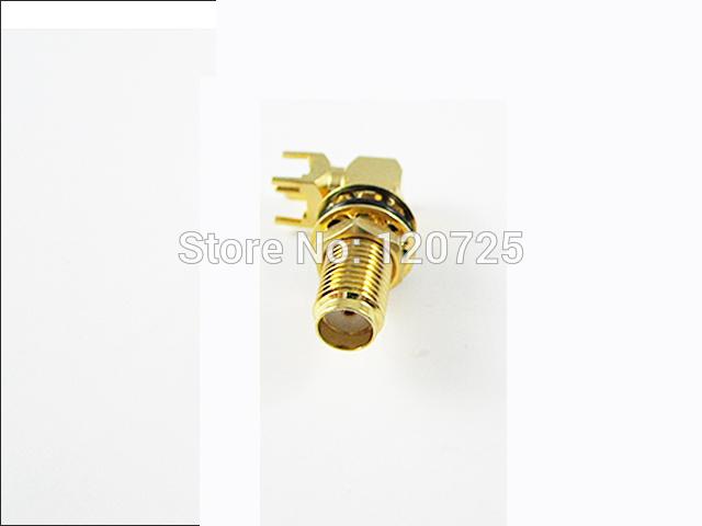 Free Shipping 50pcs RF Sma Female Connector PCB Mount Right Angle KWE Adaptor(China (Mainland))