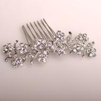 2014 exquisite rhinestone vintage beautiful bridal metal hair comb wedding hair accessory
