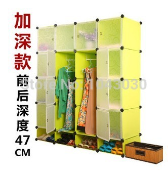 2014 Wardrobe Storage Magic Piece Combination Clothes and Shoe Shelf Cabinet DIY Easy Assemble Clothes Shoes Organizer Closet(China (Mainland))