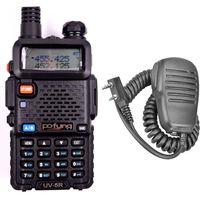 Free Shipping!2 sets/lot Pofung UV-5R 136-174/400-479.995MHz Dual-Band FM Ham 2way Radio+Original Speaker