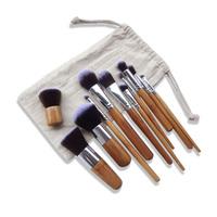 Everyday edm 11 face eye make up brush set flat foundation brush round toe brush