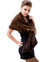2015 году новый подлинные трикотажные норки Мех Шаль пончо реальный мех куртка моды женщин реальные норки обертывания tppm0001