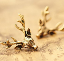 LZ Jewelry Hut E433 The 2014 New Fashion Retro Bronze Deer Antlers Earring For Women