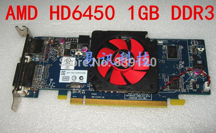 AMD Radeon HD 6450 1GB GDDR3 PCi-e X16 Display port DVI Video Graphics Card for Dell P/N N1N66 K6HDT 6XMMP(China (Mainland))