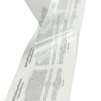 Transparent adhesive stickers printing