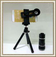 Mobile Phone Telescope Lens Camera 12x Zoom Optical Len With Universal Phone Holder Tripod