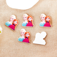 Free shipping !Very popular flat DIY DIY resin Frozen ice princess Aisha decorative accessoriesMOQ100pcs size:28*27mm