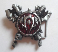 "World Of Warcraft Gaming ""HORDE""Belt Buckle SWB10-017 suitable for 4cm wideth belt with continous stock"