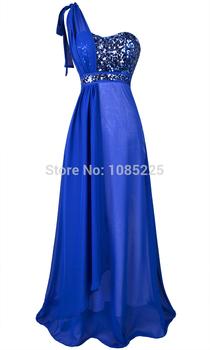 Ни одного плеча блестками V шею вечерние платья синий