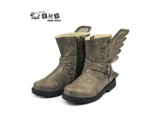 New product Autumn and winter boots Children of single boots Angel wings boots children personality