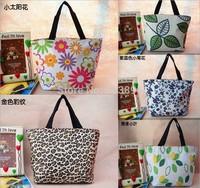 Medium waterproof printed lunch box bag wholesale fashion lunch bag leisure female bag hand bag women handbag