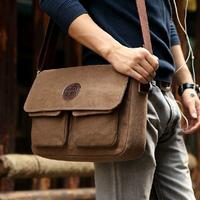 Hot Sale 2014 New Korean Retro Vintage Men Messenger Bags Casual Male Students School Satchel Shoulder Bags M211