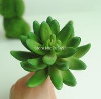 Free Shipping 10cm Artificial Succulent Pick Silk Plant Bare Stem DIY Garden Decors