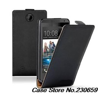 Genuine Leather Case For HTC Desire 300 Flip Cover Case + touch pen+free shipping