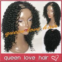 NEW bob u part wig !130-180denaity deep curl upart brazilian wigs unprocessed virgin human hair short curly wigs for black women