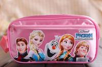 New Arrival 20cm Frozen Pecil Bag Caroon Pen Bag Anna Elsa Sven Olaf Print Frozen Bag