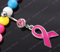 1pc 316 surgical steel ribbon Belly Rings crystal Body Piercing navel ring