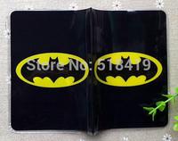 2014 Free shipping  Batman pattern passport holder passport cover