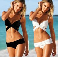 2014 New Fashion Women Sexy Bandage Push Up Padded Bra Beach Bikini Set High quality Swimwear Swimsuit Summer Bathing Suits