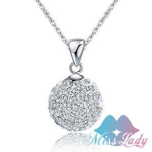 18K Platinum Plated Rhinestone Crystal Wedding bridal Ball Chains Necklaces Wholesales Fashion Jewelry for women MK199(China (Mainland))