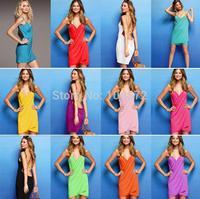 Hot Selling Swimwear 10PCS/LOT Fashion Bikini Sexy Beach Dress  Multicolored Sundresses 11Colors  VB001