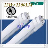 High Lumen UL Led Tube T8 Light 1200mm 120cm 4ft 23W 2300LM 90-290V Replace Incandescent lamp 5-Year Warranty 200pcs/Lot