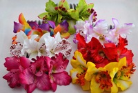 6pcs/lot  Triple Thai Orchid Bridal Hair Flower Girl Hair Accessory Silk Orchid 6 colors Free Shipping