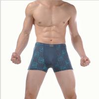2014 New Men's  Printing Bamboo fiber Boxer Shorts / Men's Seamless underwear very comfortable size M,L ,XL,XXL