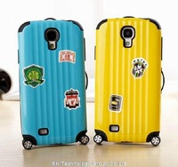 Suitcase Case Luggage Cover Pull rod box Traveling bag Case For Galaxy S4 i9500 Phone Shell Protective Sleeve 10pcs/lot