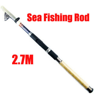 New 2014 FRP Superhard Telescopic Fishing rods 7 section 2.7m fishing rod Spinning Fishing Pole for DHL EMS sea fishing rods(China (Mainland))