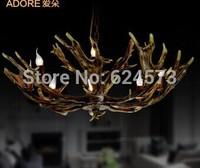 American vintage antlers pendant light luxury lighting Modern european and American pop Home Furnishing decorative lamp