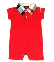 freeshipping 2014 fashion brand baby  rompers 100% cotton baby Rompers  baby girl baby boy rompers   for 1-12M2colors