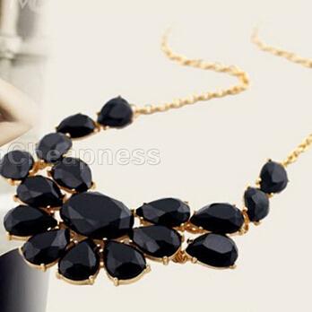 2014 New Brand Women Pendant Necklaces/Designer Women Necklace/Cheap Women Fashion Jewelry Black/Green/Yellow(China (Mainland))