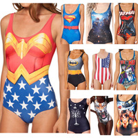 Free shipping Sexy Bikini SUPERMAN WONDER WOMAN CAPE SUIT CANADA WESTEROS WIN OR DIE SWIMSUIT Digital Print Swimwear TO13