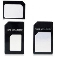 High Quality 4 in 1 Nano Sim Card Adapters + Micro Sim + Stander Sim Card SIM Card & Tools For Iphone 4 / 4S/ 5 With Retail Box