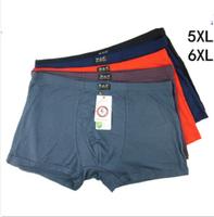 ultra-large size  Men's  Bamboo fiber Boxer Shorts / Men's Underwear very comfortable size 5XL 6XL