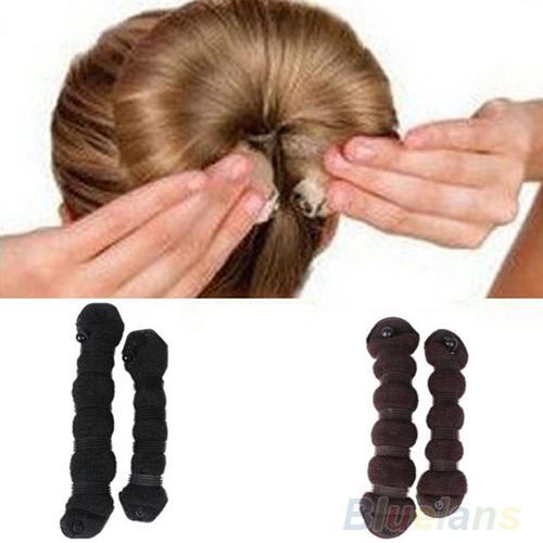 2pcs/set Fashion Hair accessory Styling Elegant Magic Style Bun Maker Hairstyle Updo DIY Styling Tool 01X7(China (Mainland))