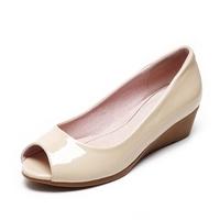 Summer plus size women's shoes open toe shoe extra large open toe wedges sandals single shoes