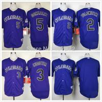 2014 cheap Colorado Rockies Jersey #2 Troy Tulowitzki Purple Men's Baseball Jersey Cool Base Embroidery Logos,Mix Orders