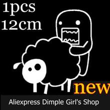 1pcs 12cm Novelty Cool New 2014 Animal Funny Automobiles & Motorcycles Accessories Sheep dom kun Car Stickers domokun domo-kun