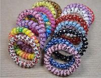 Free Shipping Fashion Cheap High Elastic Telephone Line Hair Band / Headwear/Hair Ring 10pcs/lot