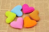 Mix colors order! Wholesale 20PCS/LOT heart shape fleece plush pet toys, soft pet pillows,dog toy, pet products
