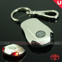 Free shipping Toyota with lamp series of car key ring/buckle RAV4 reiz/corolla/vios Christmas